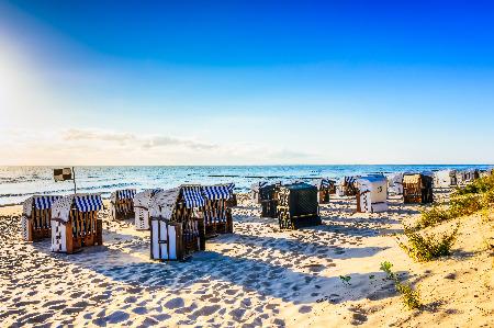 Strankörbe am Strand von Usedom