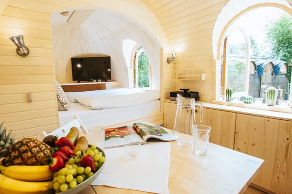 Innenansicht des Chalet Igluhut aus Estland / Tiny House