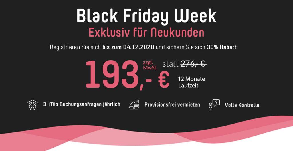 Black Friday Week_Rabatte für Ferienhausbesitzer
