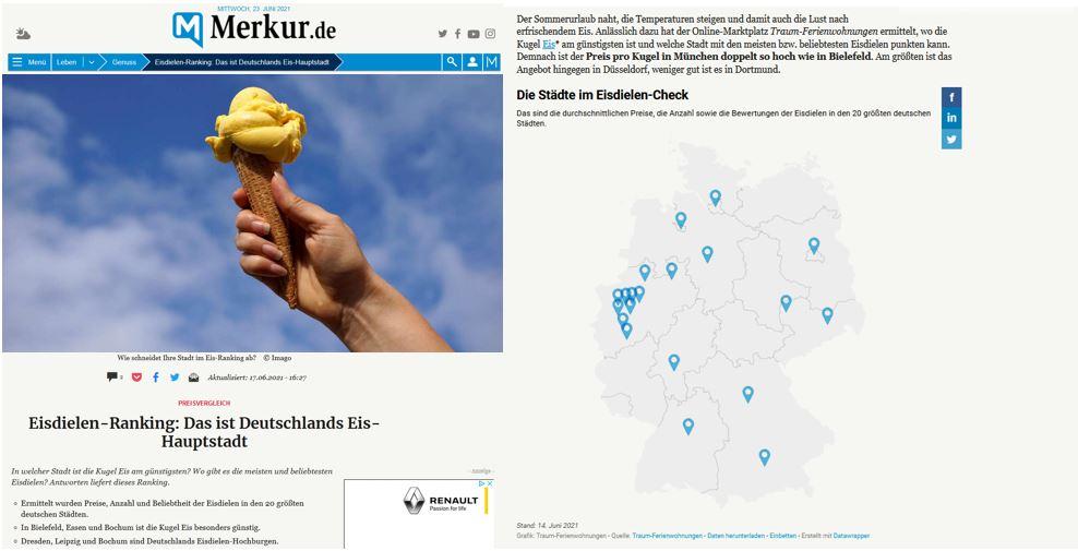 Presseartikel auf Merkur.de