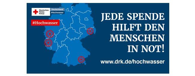 DRK Banner Hochwasserhilfe