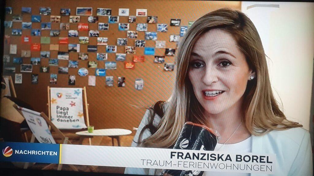 Franziska Borel im Interview mit Sat. 1 Nachrichten
